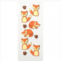 Стикеры  Mini Stickers Foxes от Little B