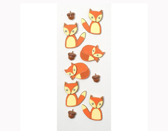 Стикеры  Mini Stickers Foxes от Little B