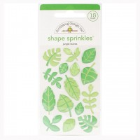 Стикеры Sprinkles Adhesive Glossy Enamel Shapes At The Zoo Jungle Leaves от Doodlebug
