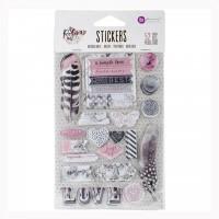 Обьемные стикеры и чипборд Rose Quartz Puffy Stickers
