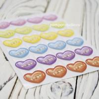 Уголки для фото LOVE (цветные с золотом)