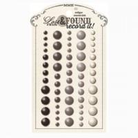 Эмалевые точки (дотсы) с серебрянным глиттером Lost&Found - Record it! Antique от MME