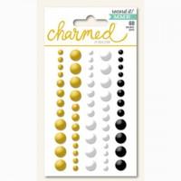 Эмалевые точки (дотсы) с золотым глиттером Charmed - Record it! от MME