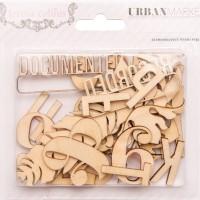 Вырубки из дерева Urban Market 31шт