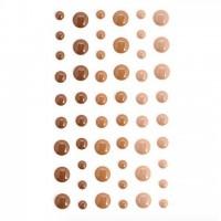 Эмалевые точки (дотсы) кофейные
