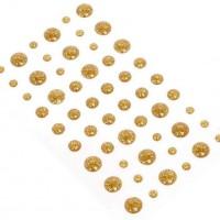 Эмалевые точки (дотсы) с глиттером золотые