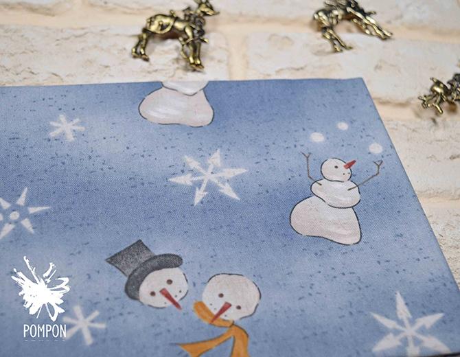 """Отрез ткани (американский хлопок) """"Снеговики"""""""