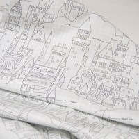 Американский хлопок Castle Plans(white) MAGIC by Sarah Jane