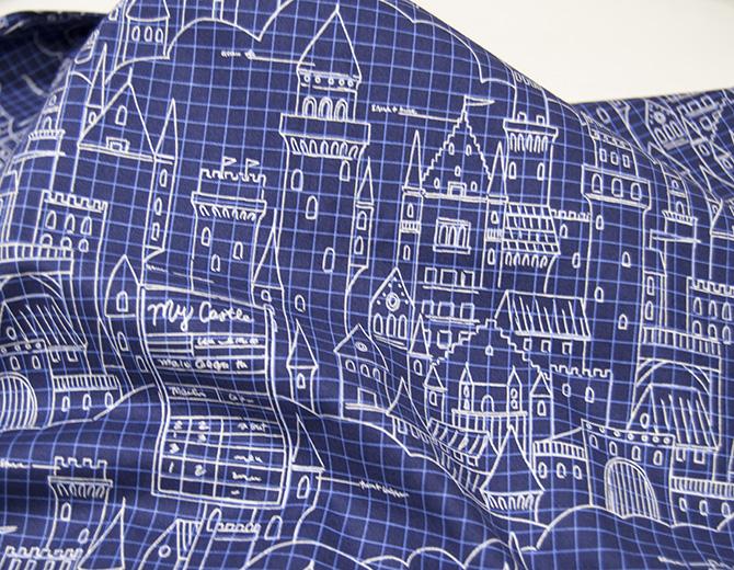 Американский хлопок Castle Plans(navy) MAGIC by Sarah Jane