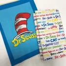 Ткань американский хлопок Celebrate Seuss! Book Titles White/CAT IN THE HAT PANEL