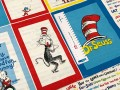 Ткань американский хлопок Celebrate Seuss! Book Titles White/CAT IN THE HAT PANEL