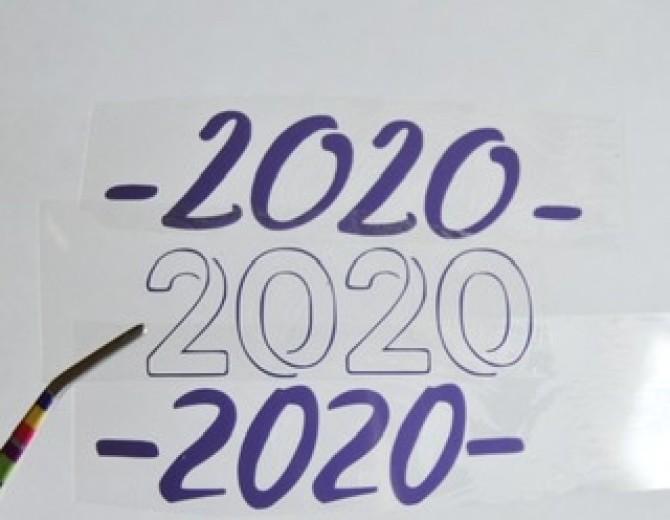 Надпись из термотрансферной пленки 2020
