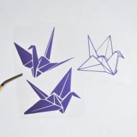 Картинка (Надпись) из термотрансферной пленки ОРИГАМИ