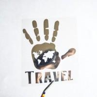 Надпись из термотрансферной пленки TRAVEL