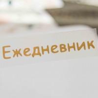 Надпись из термотрансферной пленки ЕЖЕДНЕВНИК 6