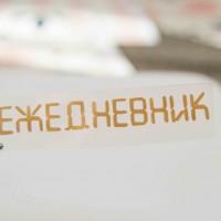Надпись из термотрансферной пленки ЕЖЕДНЕВНИК 7