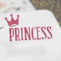 Надпись из термотрансферной пленки PRINCESS с короной