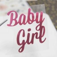 Надпись из термотрансферной пленки BABY GIRL