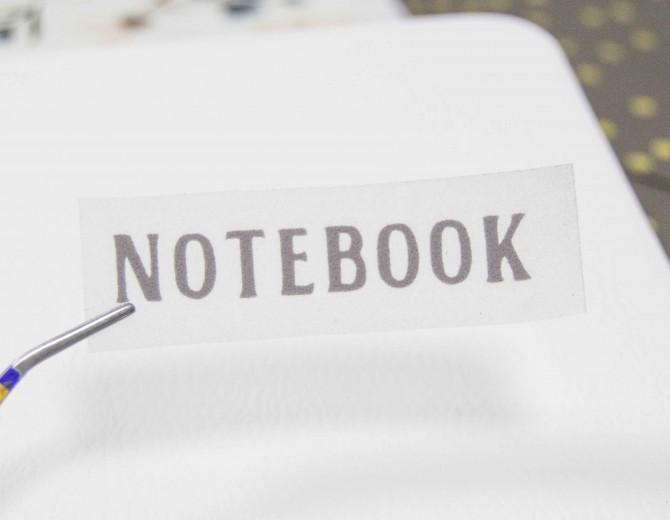 Надпись из термотрансферной пленки NOTEBOOK