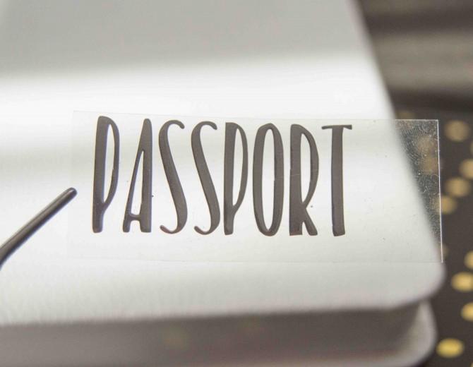 Надпись из термотрансферной пленки PASSPORT 2
