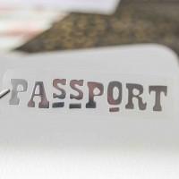 Надпись из термотрансферной пленки PASSPORT 3