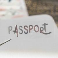 Надпись из термотрансферной пленки PASSPORT 5