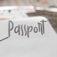 Надпись из термотрансферной пленки PASSPORT 7