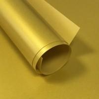 Пленка термотрансферная матовая (желтое золото) 25х25 см