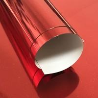 Пленка термотрансферная металлик (красная)