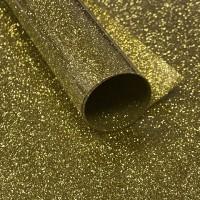 Пленка термотрансферная с глиттером (золото)