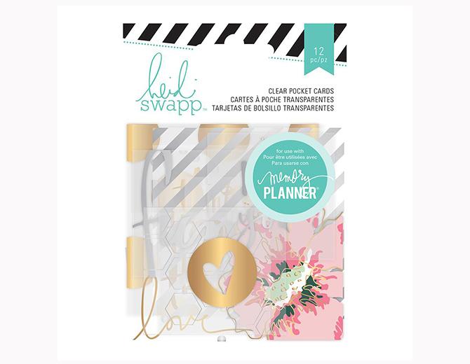 Карточки ацетатные с фольгированием Hello Beautiful Clear Pocket Cards от Heidi Swapp