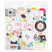 "Чипборд Open Book Adhesive Chipboard 12""X12"" от Maggie Holmes"
