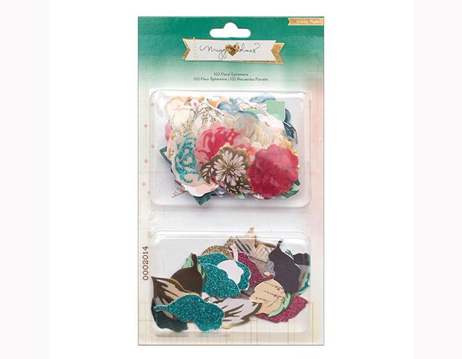 Набор высечек Floral Ephemera Flowers & Leaves Open Book 102шт Maggie Holmes