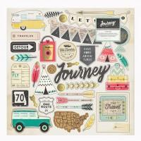 Чипборд Journey Adhesive от Crate Paper