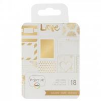 """Набор карточек """"Golden"""" 18 шт для Project Life"""